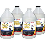 Magic Resin   4 Gallon (15.2 L)   Premium Quality Clear Epoxy Resin Kit   Non-Toxic   High Gloss Thick Clear Coat   For Table
