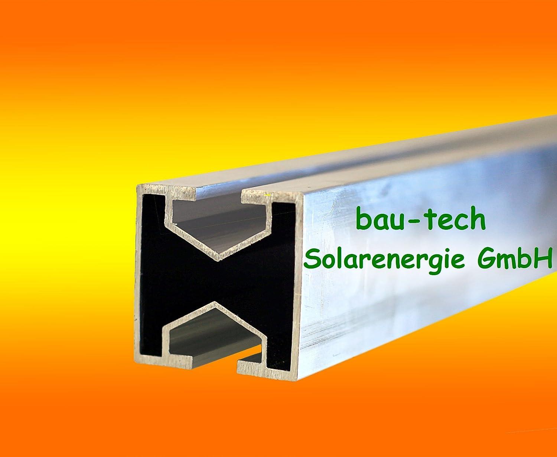 32 Meter Montageprofil leicht 40 x 40mm von bau-tech Solarenergie