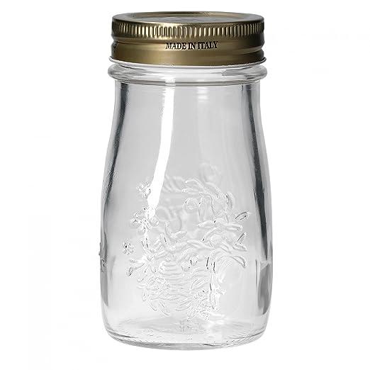 Juego de 6 Quattro Stagioni Botella 0,20 l incl. Cuaderno de recetas) - como Zumo Smoothie Bebidas biberones, decoración o como Conservas (Vidrio, ...