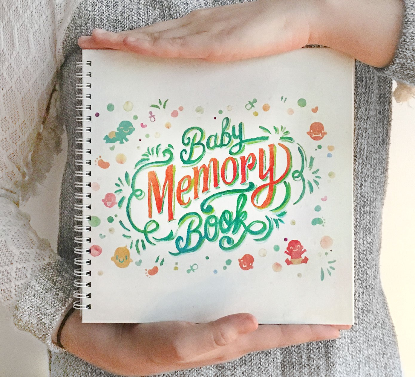 Newborn Memory Book. Perfect Keepsake Book and Photo Album to Record Milestones and Maternity. Baby's First Year Baby Diary. W.C