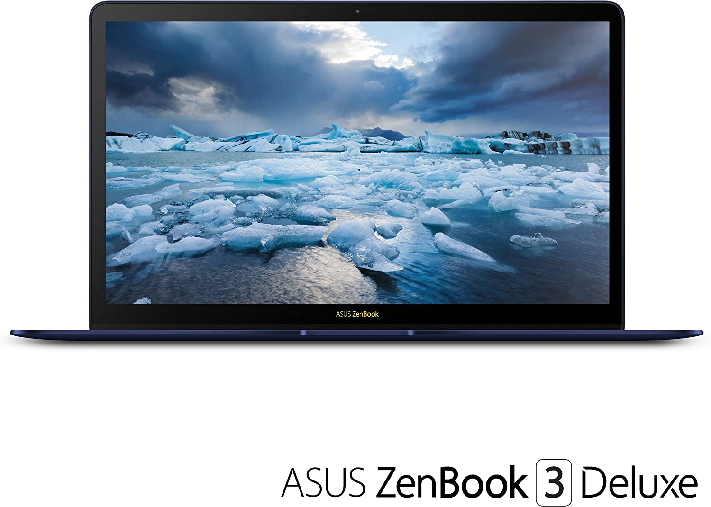 "ASUS UX490UA-IH74-BL ZenBook 3 Deluxe 14"" FHD Ultraportable Laptop, Intel Core i7-8550U, 16GB RAM, 512GB SSD, Windows 10 Pro, Royal Blue"
