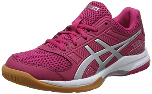 ASICS Womens Gel-Rocket 8, Bright Rose/Silver/Burgundy, 8 B
