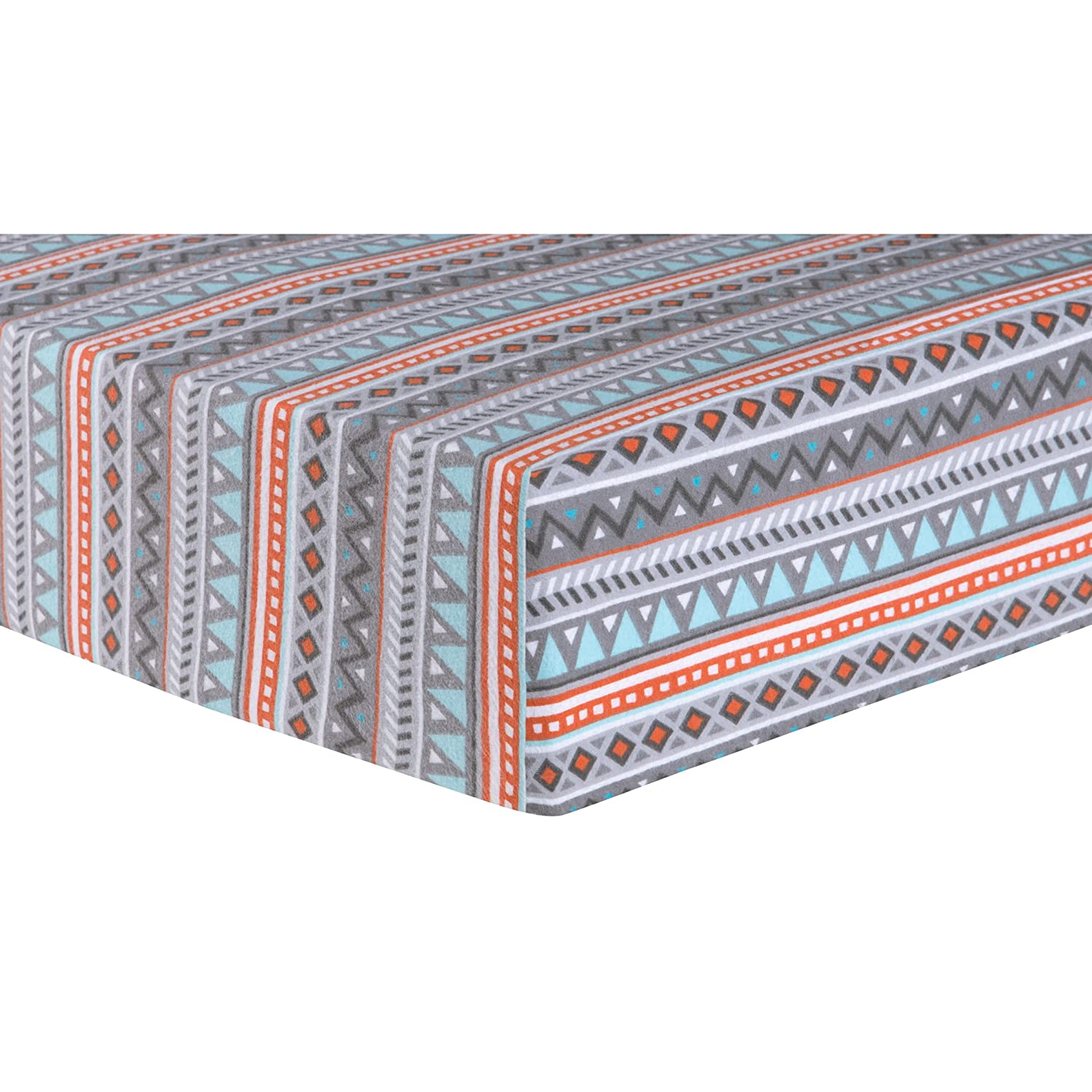 Trend Lab Aztec Deluxe Flannel Fitted Crib Sheet, Multi 103097