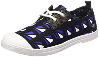 Le Temps des Cerises LTC Basic 02, Zapatillas Mujer, Azul Oscuro (Fancy Graphic), EU 38