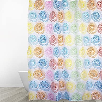 Eforgift Shabby Chic Extra Long 72 X 78 Shower Curtain Polyester Durable Polka Dots Bath