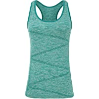 VANIS Women's Yoga Tank Tops Built in Bra Stretchy Activewear Tops Long Workout Shirts Racerback Quick Dry