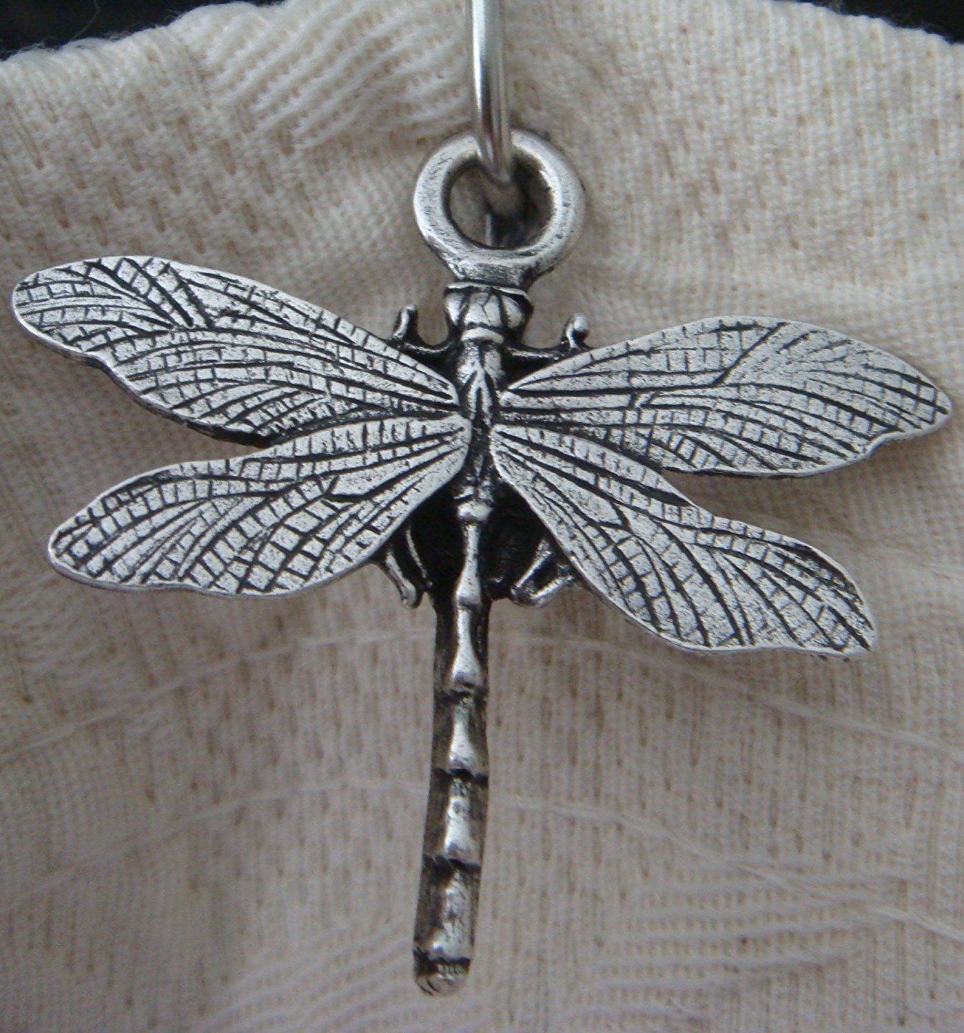 12 Dragonfly Shower Hook Add-on - Antique Silver Electroplate Finish - ** Free roller bead chrome Shower Curtain Hooks with Purchase ...