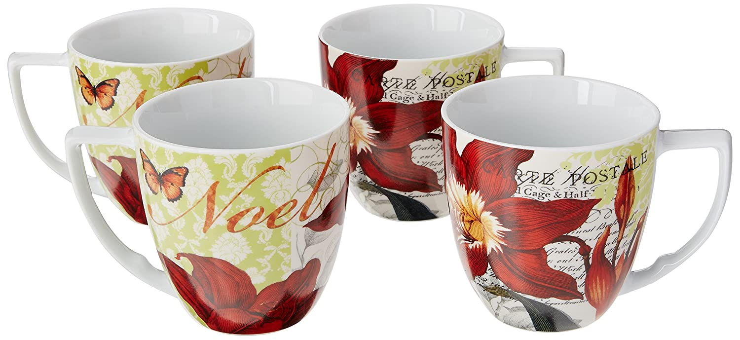 Buy Waechtersbach Accents Traditions Mugs Noel Set Of 4 Online At Low Prices In India Amazon In