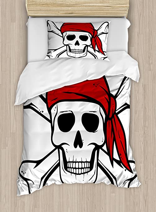Amazon.com: Pirata Juego de funda nórdica por Ambesonne ...