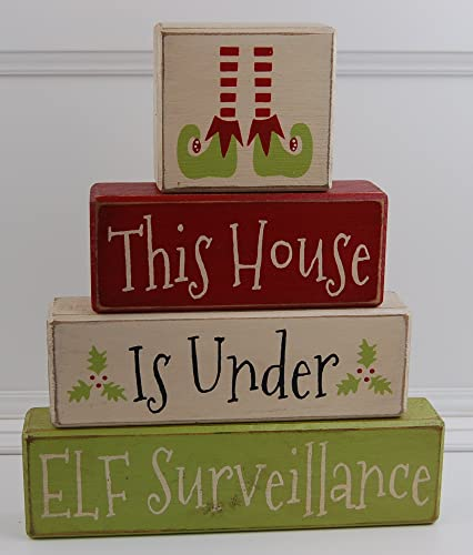 Personalised SHELF ELF Christmas Plaque on Sign Gift Present ELF SURVEILLANCE