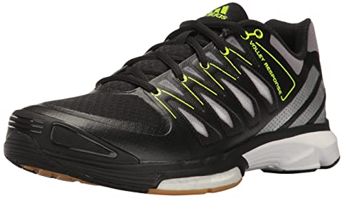 free shipping ce7c0 eef8f Adidas Women s Volley Response 2 Boost W Shoe, Black White Metallic Silver,