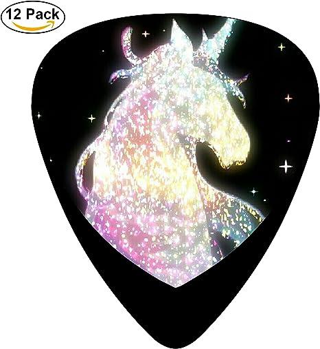 damuiu caballo – Juego de 12 púas de guitarra juego de música teclado púa graves: Amazon.es: Amazon.es