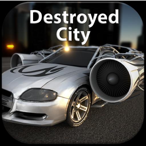 jet-car-destroyed-city