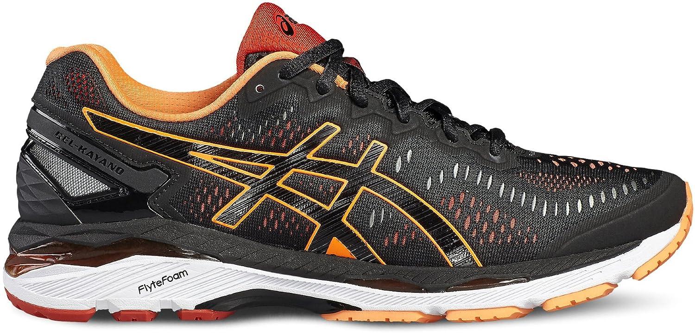 Noir HotOrange Vermilion ASICS Gel-Kayano 23, Chaussures de Running Homme
