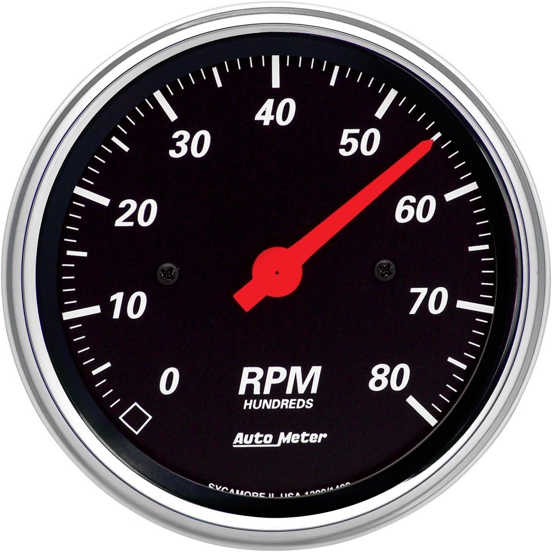 Auto Meter 1490 Designer Black Dash Electric Tachometer