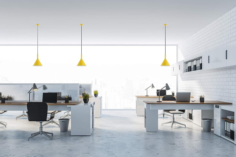 iluminaci/ón colgante dormitorio L/ámpara colgante industrial moderna blanco mate E27 dise/ño escandinavo aluminio restaurante cocina l/ámpara de sala comedor l/ámpara de techo oficina