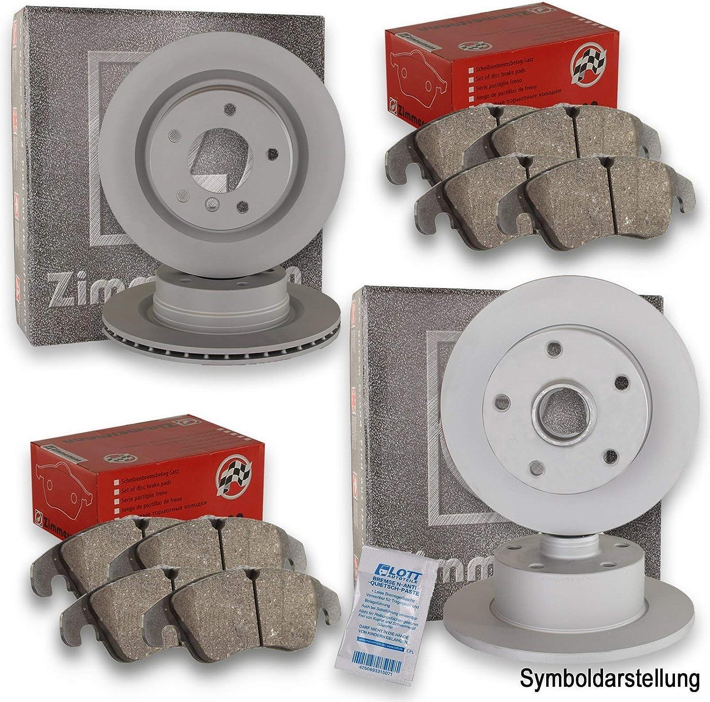 Zimmermann Bremsbel/äge Bremsbelagsatz Kl/ötze Vorderachse Hinterachse Zimmermann Bremsscheiben Scheibenbremse vorne hinten