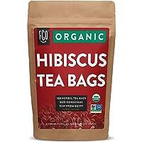 Organic Hibiscus Tea Bags | 100 Tea Bags | Eco-Conscious Tea Bags in Kraft Bag |...