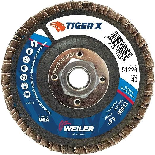 "Zirconia Abrasive 5 Pack Flap Discs DD 4-1//2/"" x 7//8/"" Type 29 40 Grit"