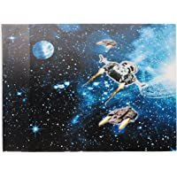 alles-meine.de GmbH Schreibtischunterlage / Unterlage -  Weltraum - Space - Raumschiff  - 50 cm * 39 cm - Tischunterlage / Knetunterlage / Bastelunterlage - abwaschbar - abwisc..
