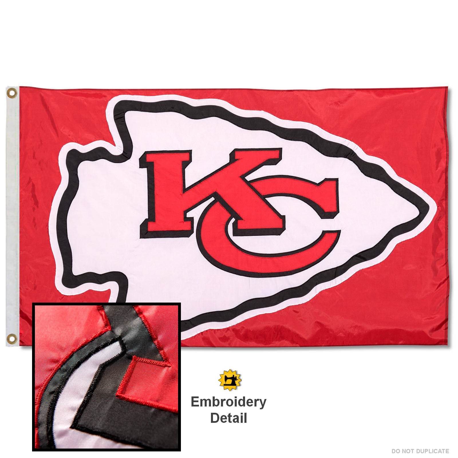Wincraft Kansas City Chiefs Embroidered Nylon Flag by Wincraft