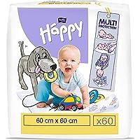 bella baby Happy Aankleedonderlegger: baby aankleedmat voor onderweg 60 x 60 cm in 2-pack (2 x 30 stuks), waterdicht en…