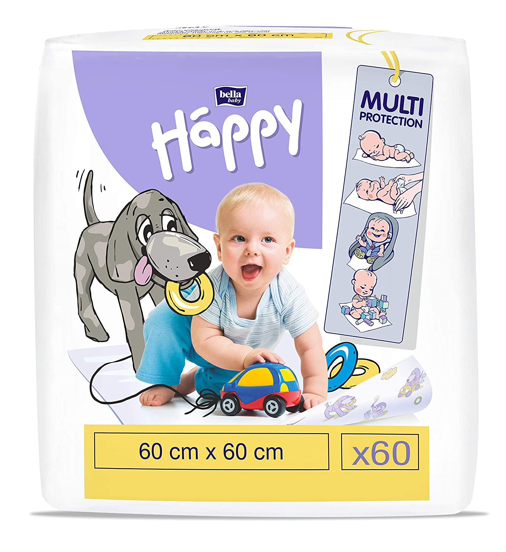 bella baby happy Wickelunterlagen 60 x 60 cm 60 St/ück 3.41 kg