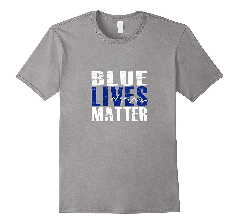 BLUE LIVES MATTER T-Shirt Thin Blue Line Support Police-CL ...