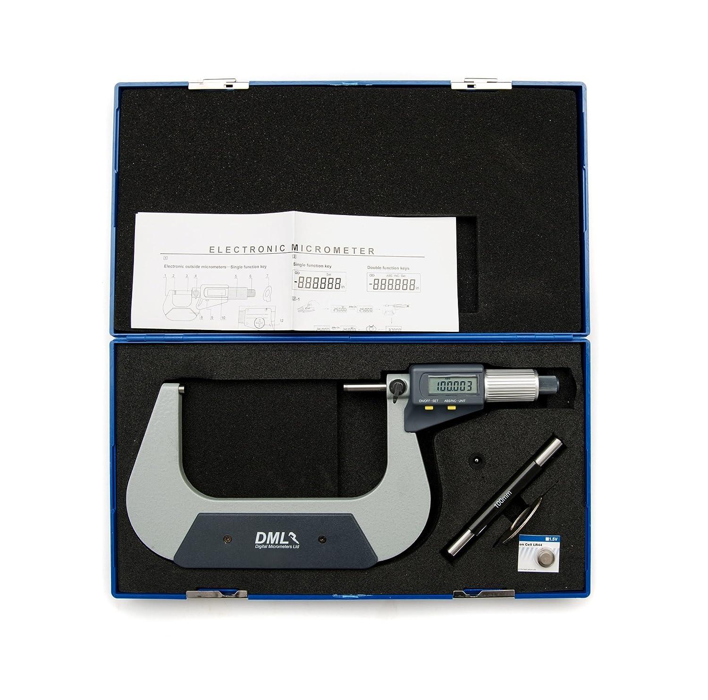 DML IP54 Digital-Messschraube 100– 125 mm 12 Monate Garantie Digital Micrometers Ltd