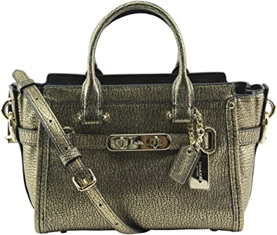 6b83d956b3 COACH Women s Metallic Pebble Light Swagger 20 Carryall Li Gold One Size   Handbags  Amazon.com