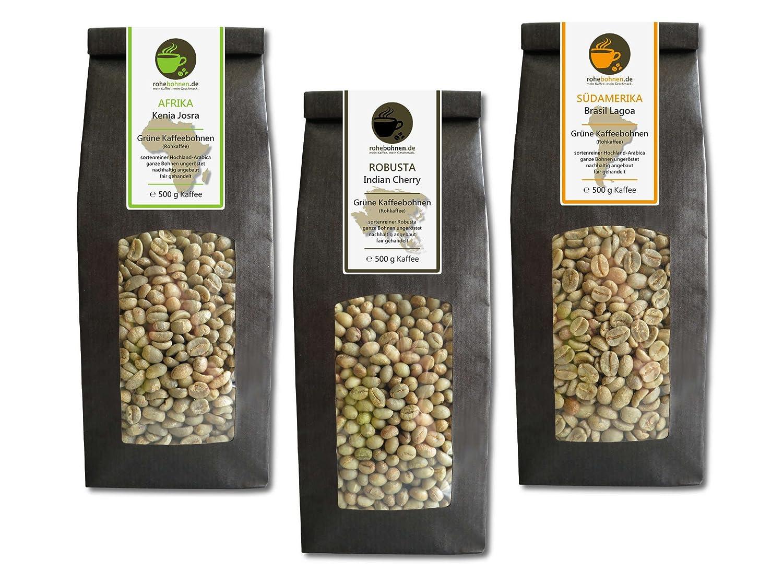 Sparpack Rohkaffees Kenia, Indien und Brasilien
