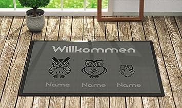 Gut bekannt Fußmatte 'Willkommen' Inkl. Ihrer Namen - Personalisierte WB02