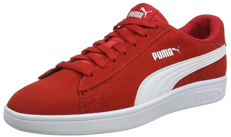 Puma Smash V2, Zapatillas Unisex Adulto 43 EU|Rojo (Ribbon Red-puma White 18)