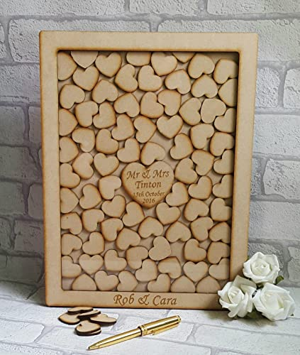 Amazoncom Wedding Guest Book Alternative Heart Drop Box Frame
