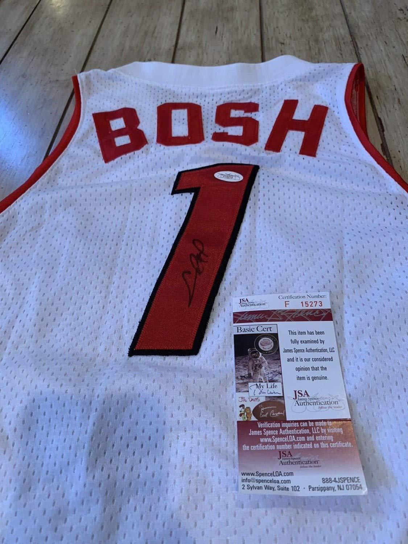 outlet store c7428 24e18 Chris Bosh Autographed Signed Jersey Memorabilia JSA COA ...