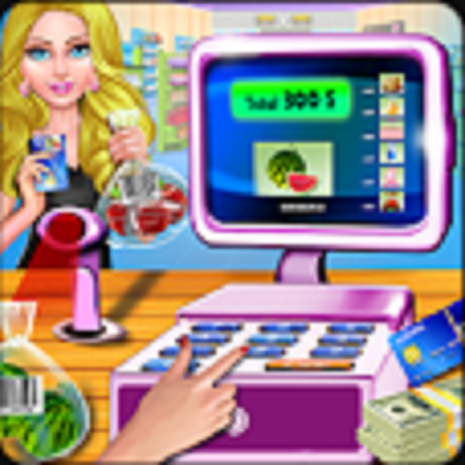 Supermarket Cash Register Grocery Store Cashier Game, Fun Shopping Mall Time Management Game ()