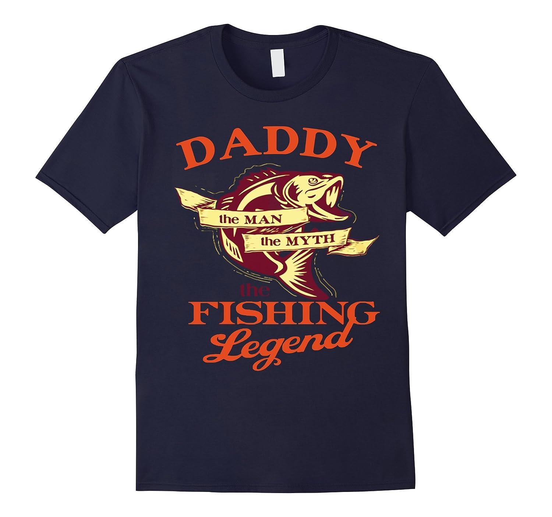Mens Dad shirt DADDY - THE MAN THE MYTH THE FISHING LEGEND shirt-RT