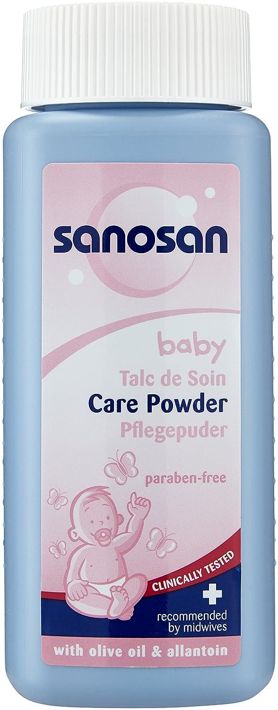 Sanosan Baby Pflegepuder, 3er Pack (3 x 100 g) 89301