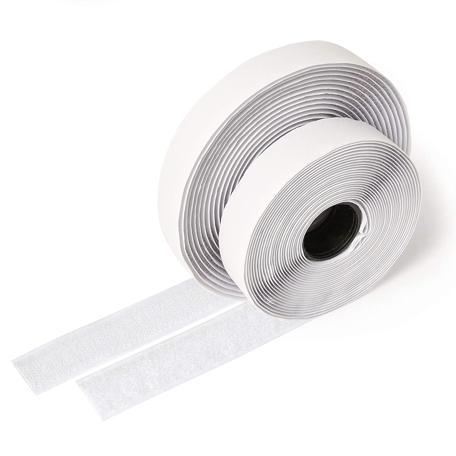 iLP Velcro tape white self-adhesive - 5 metres long approx. 20 mm wide - Secure fixing extra strong attachment for home improvements, craft and DIY - 1 roll of hook and loop tape iLP GmbH