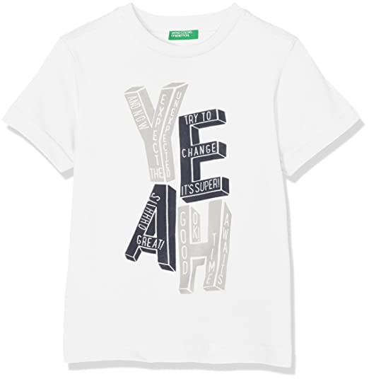 United Colors of Benetton T-Shirt Camiseta, Blanco (White 101 ...