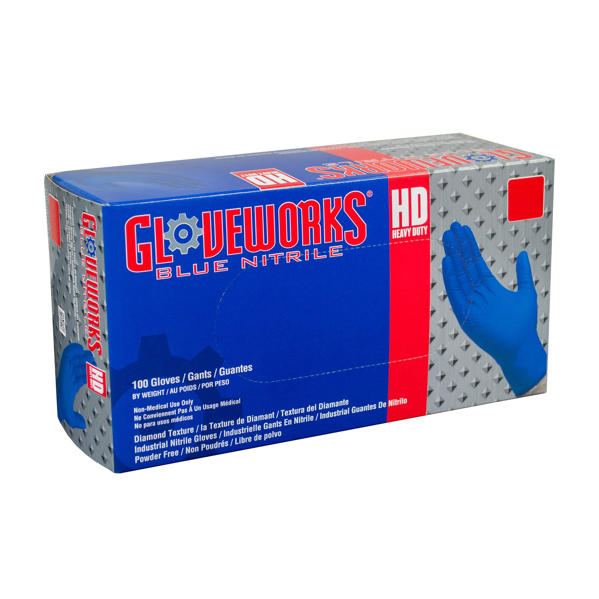 AMMEX - GWRBN49100 - Nitrile Gloves - Gloveworks - HD, Disposable, Powder Free, 6 mil, XXLarge, Royal Blue (Case of 1000) by Ammex (Image #7)
