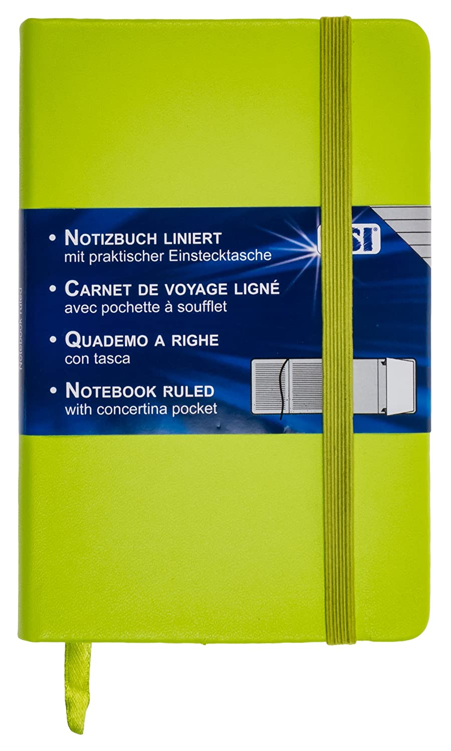 TSI 63566Ruled Notebook 192Pages 93x 140mm (Colour: Green