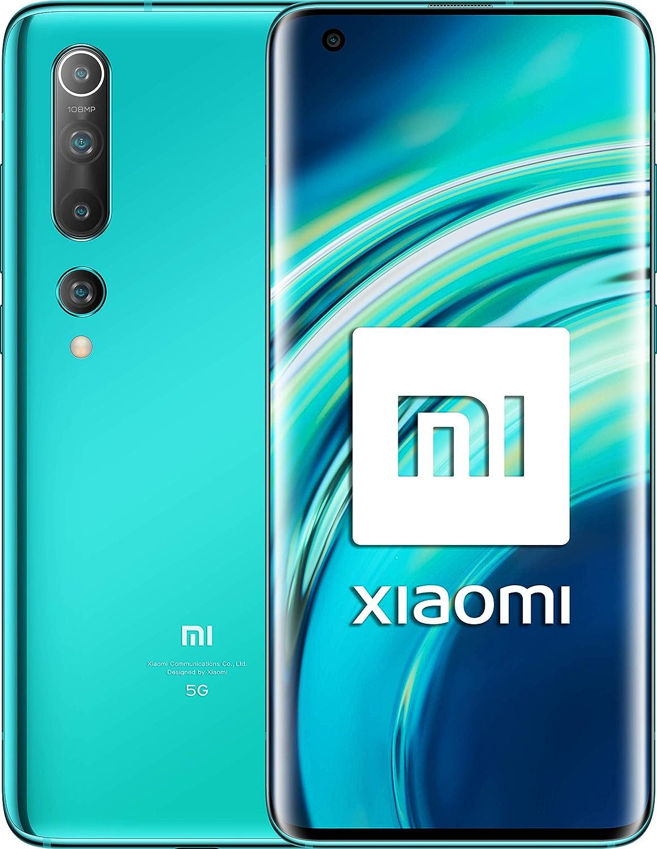 """Xiaomi Mi 10 (Pantalla FHD+ 6.67"""", 8GB+128GB, Camara de 108MP, Snapdragon 865 5G, 4780mah con carga 30W, Android 10) Verde [Versión española]: Amazon.es: Electrónica"""
