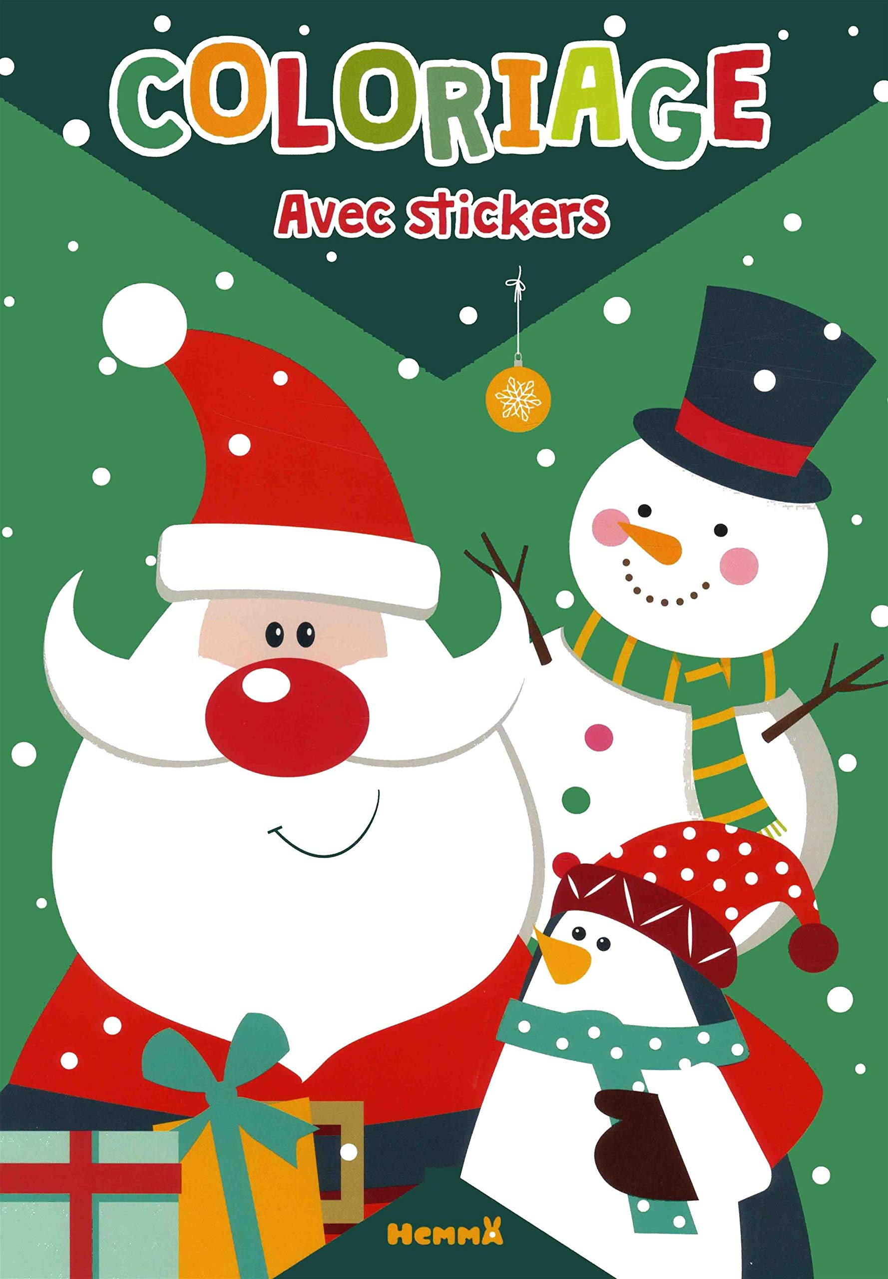 Coloriage Avec Stickers Pere Noel French Edition Collectif