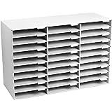 AdirOffice File Organizer Classroom   Office   Home (30 Slots, White)