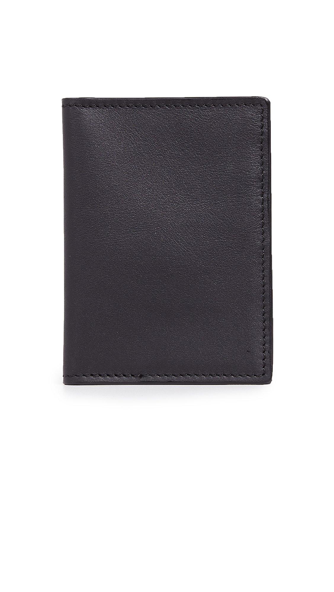 Shinola Men's Signature Passport Wallet, Black, One Size