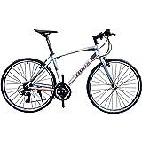 トリンクス(TRINX) 【クロスバイク】軽量アルミフレームに定番のシマノTOURNEY21段変速で街乗りから本格走行、競技まで フラットロード 700C FREE1.0 シルバー/オレンジ 470mm