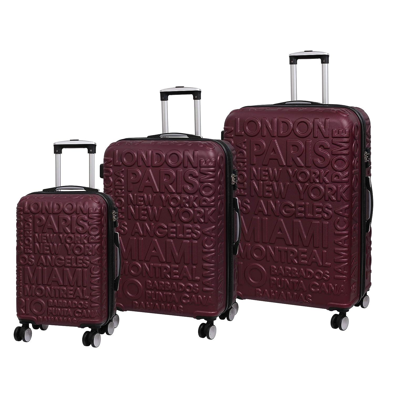 8 Wheel Hard Shell Single Expander Suitcase with TSA Lock Maleta Dorado it luggage Destinations II 70 cm 107 Liters Gold
