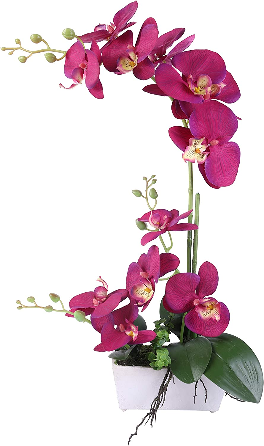 Orchid Artificial Plants for Decoration,Purple Fake Orchids,11 Head Silk Plants for Home Decor Indoor