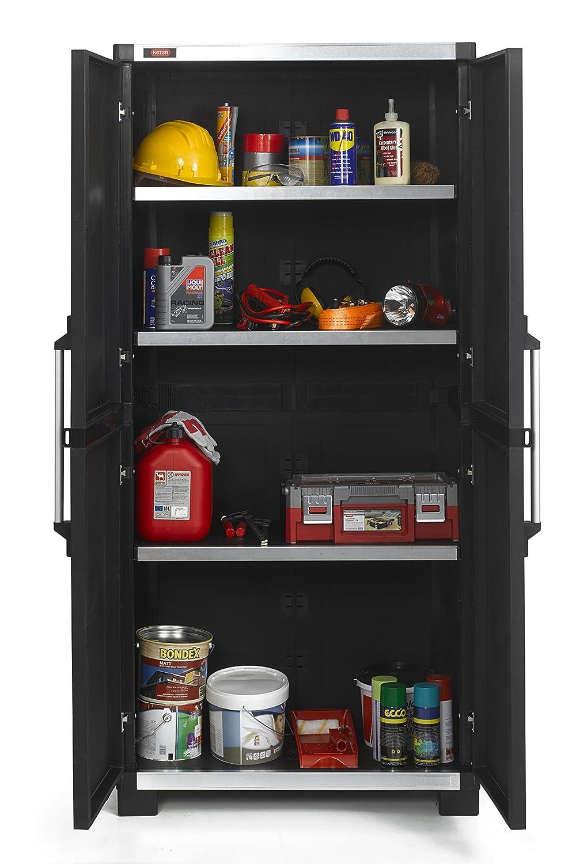 Allibert Bathroom Cabinets Allibert 224278 Xl Pro Tall Cabinet Black 224278 Amazoncouk